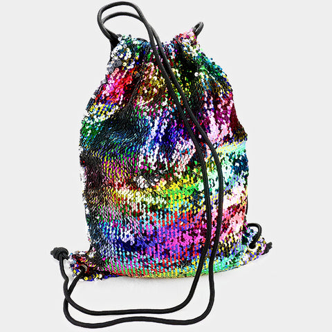 sequin backpack handbag clutch bag purse pocketbook