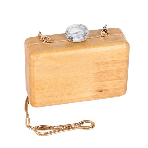 wood grain handbag purse messenger bag clutch