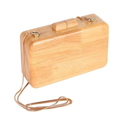 wood wooden handbag purse messenger bag clutch