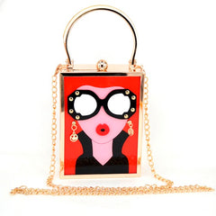 girly acrylic bag purse handbag