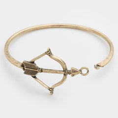 "8.25"" antique gold 1.50"" arrow cuff boho bracelet bangle"