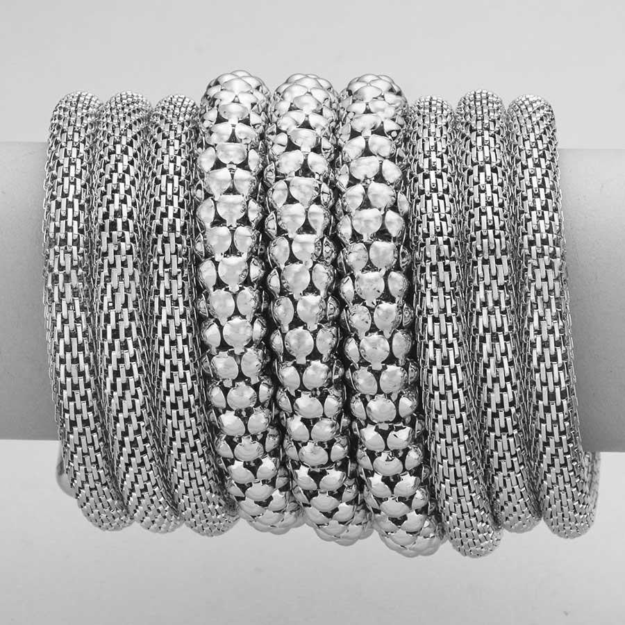 "3.75"" wide wrap coil snake bracelet bangle cuff"