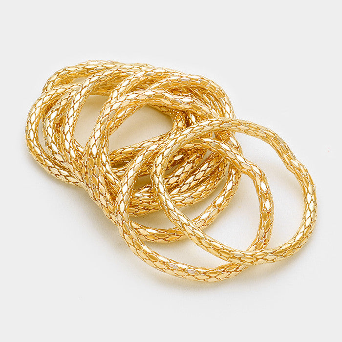 10 separate snake stretch bracelet bangle