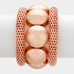 3 piece mesh stretch bracelet bangle cuff stack