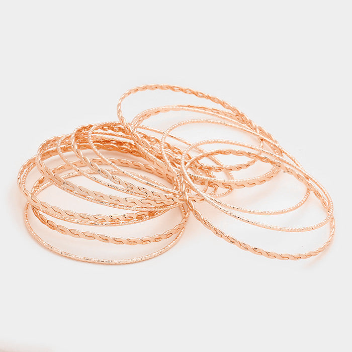 15 layered rose gold cuff bracelet bangle