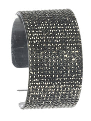 "7"" crystal pave bracelet bangle cuff stack 1.30"" wide"