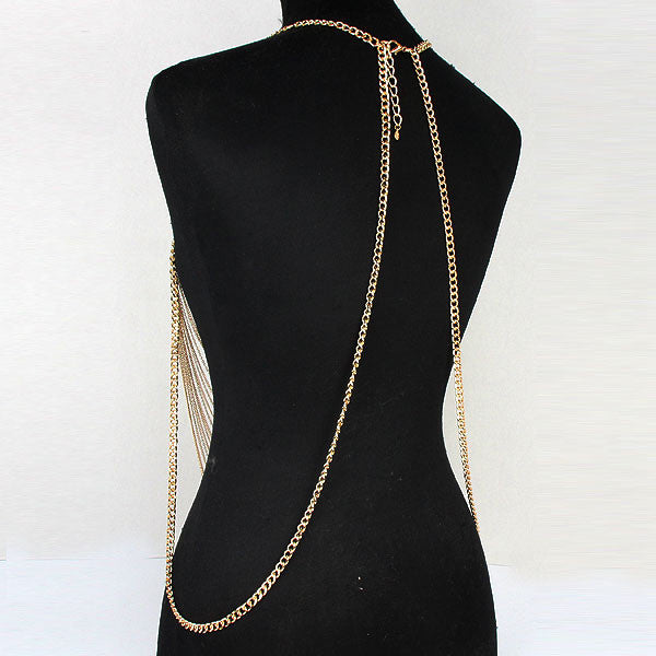 "28"" body chain collar choker bikini necklace bathing suit jewelry"