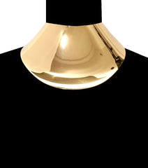 "13.50"" choker 4.25"" wide sheet collar necklace bib balmain"