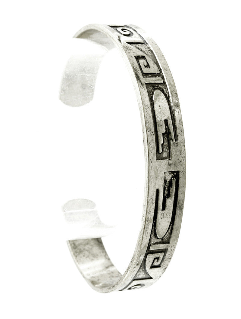 "7.75"" tribal bangle cuff stack bracelet .35"" wide"