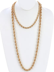 "18"" 32"" gold rope chain choker necklace 2 separate pieces"