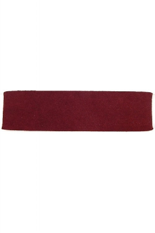"13"" burgundy faux suede collar choker necklace 1.25"" wide"