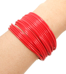 "7.50"" layered bracelet magnetic plastic cord"