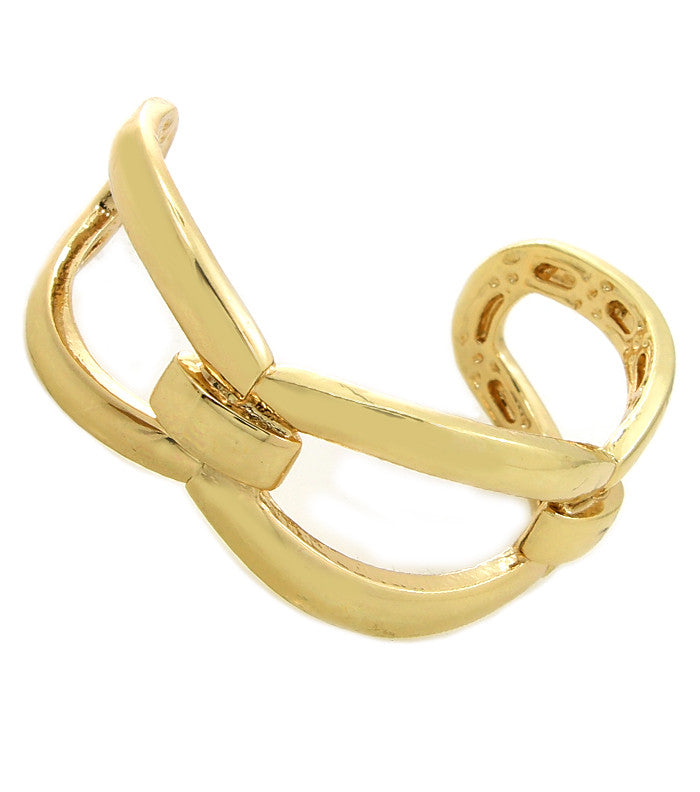 gold chain open cuff bracelet bangle