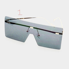 square sunglasses celebrity visor glasses shades