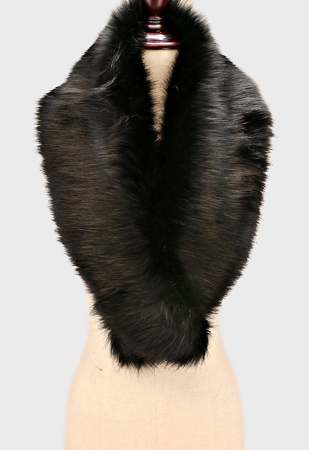 "24"" faux fur shawl scarf wrap collar accessories"