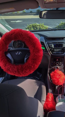 Fur Lit Fluffy Steering Wheel Covers Set 3 Piece