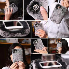 Fuzzy phone case iphone