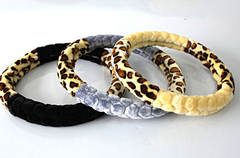 Cheetah fur steering wheel cover