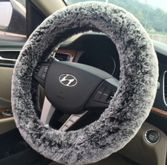 Ice cream Fur steering wheel cover