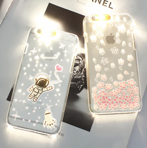 Light up iphone phone case
