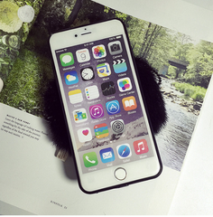 Cartoon fur wallet iphone case