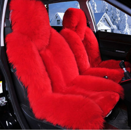 2 Seats Girly Fur Seat Covers Spoiled Accessories