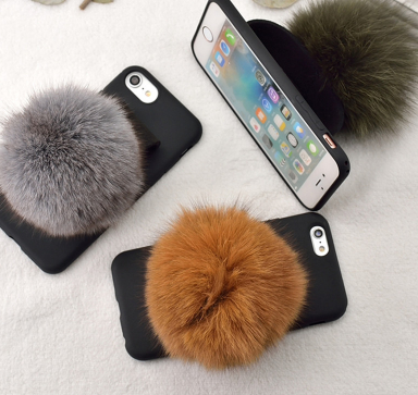 Fur ball iphone cases