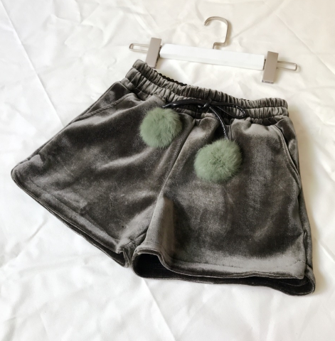 Fur Velvet Cream Shorts