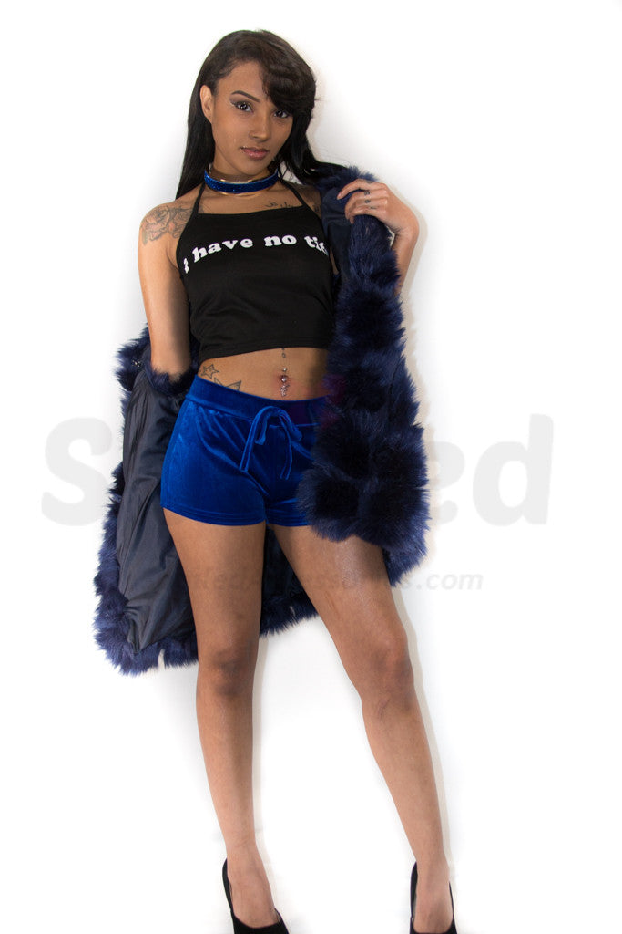 Velvet Shorts Outfit Spoiled Accessories