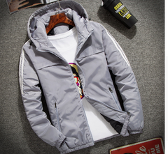 striped rain jacket hoodie coat jogger tg