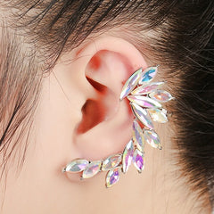 "2.25"" silver ab crystal pierced cuff earring this if for 1 earring not 2"