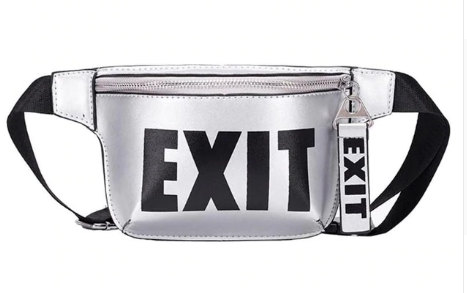 exit crossbody waist faux leather fanny bag purse handbag tg