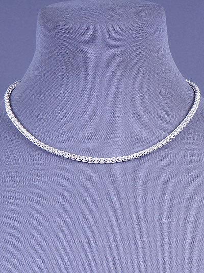 "16"" silver choker pendant necklace"