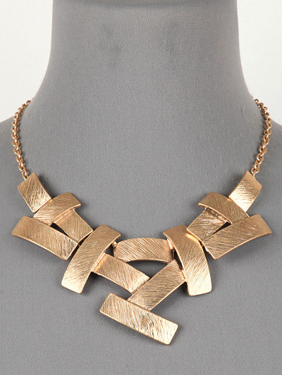 "16"" gold bar necklace"