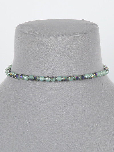 "12"" 4mm beads choker necklace"