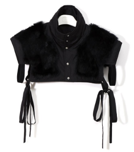 Faux Fur Crop Top Reverseible Vest  One Size tg