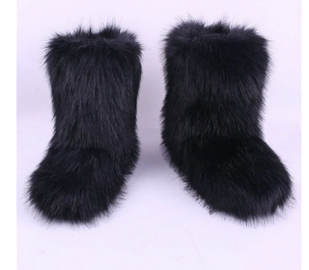 faux fur furry winter fluffy Boots