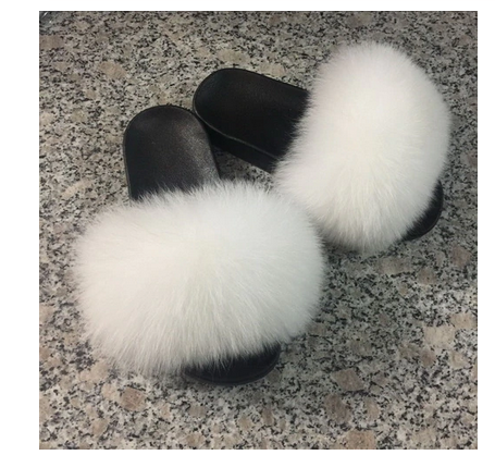Cody Mink real fur Slides