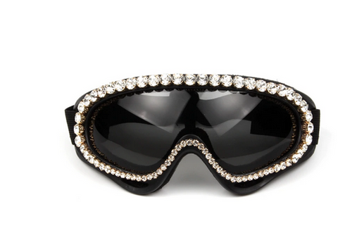 cycling fashion goggles rhinestones crystal frames sunglasses shades glasses steampunk tg