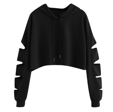 cut out sweat shirt hoodie tg