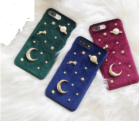 plush moon charm iPhone Case phone