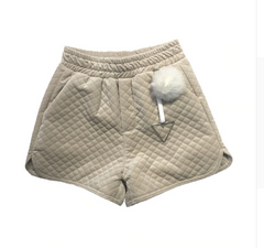 padded fur ball velvet shorts tg