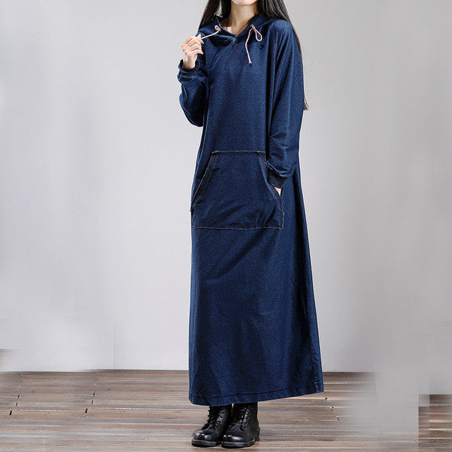 Hoddie Denim Dress