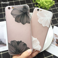 Black & White Flower iPhone Case