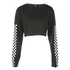 checker crop top