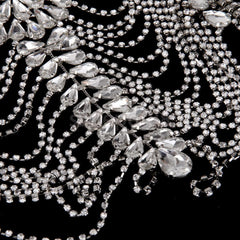 crystal body chain shoulder necklace bridal prom pageant