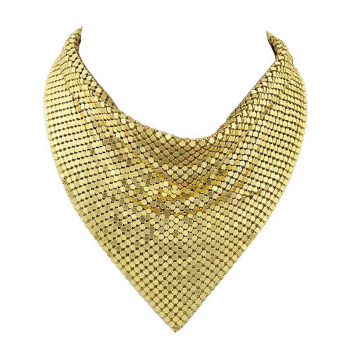 "12"" sequin mesh bandana choker collar necklace 5"" drop"