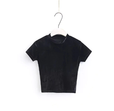 velvet summer Crop Top tg
