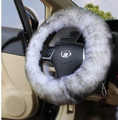 Furry Silky Steering Wheel Covers 1 Piece this is not 3 pieces
