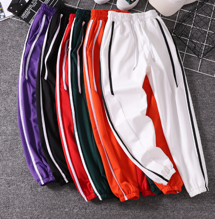 striped sweatpants joggers tg